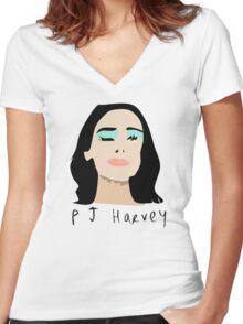 PJ Harvey Portrait Women's Fitted V-Neck T-Shirt