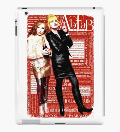 Absolutely Fabulous, Sweetie! Darling! Patsy and Edina. Ab Fab typography quotes. abfab. BBC iPad Case/Skin