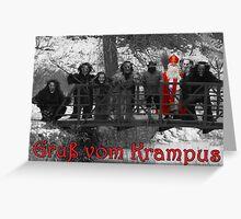 Gruss vom Krampus - B&W Greeting Card