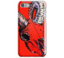 Decay Hath Such Grace - Ram Skull - RED iPhone Case/Skin