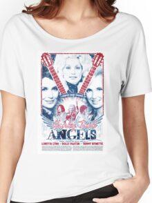 Honky Tonk Angels. Tammy Wynette, Dolly Parton, Loretta Lynn. Nashville, TN. Country Music Women's Relaxed Fit T-Shirt