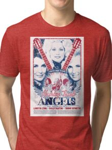 Honky Tonk Angels. Tammy Wynette, Dolly Parton, Loretta Lynn. Nashville, TN. Country Music Tri-blend T-Shirt