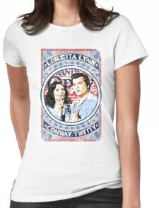 Conway Twitty, Loretta Lynn. Country Music. Nashville Womens Fitted T-Shirt