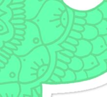 zentangle p: mint Sticker