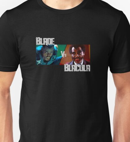 Blade Vs Blacula - Vampire Showdown Unisex T-Shirt