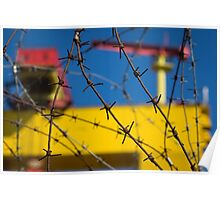 Shipbuilding and Barbed Wire Poster