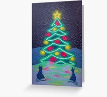Bright December Night Greeting Card