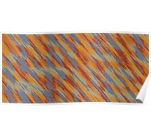 orange brown and blue painting texture abstract  Poster
