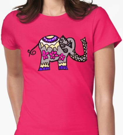 love elephants Womens Fitted T-Shirt