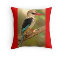 Brown-hooded Kingfisher Throw Pillow
