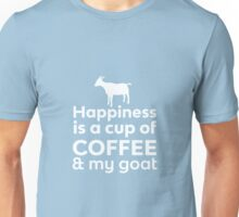 Happiness Coffee & My Goat Unisex T-Shirt