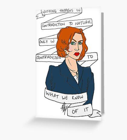 Dana Scully Greeting Card