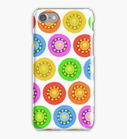 Funny Colorful Abstract Flower Pattern iPhone Case/Skin