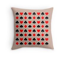 Playing Card Suits with Your Colors Throw Pillow