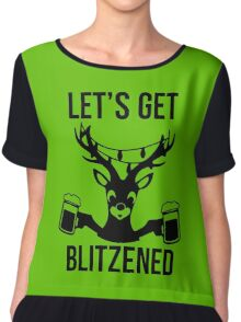 Let's Get Blitzened Chiffon Top