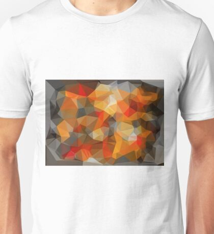 red orange black and white abstract Unisex T-Shirt