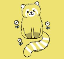 Red Panda with White Flowers Kids Clothes