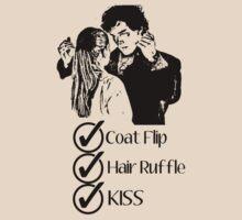 Sherlock - Coat Flip, Hair Ruffle, Kiss by NerdGirlTees