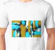 blue black and white painting texture  Unisex T-Shirt