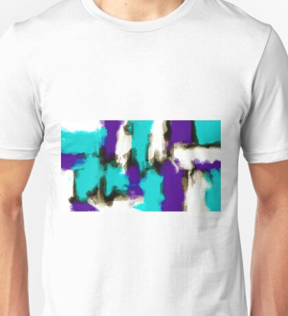 purple blue and black painting texture  Unisex T-Shirt