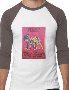 DEBUT FIRE 2NE1 Men's Baseball ¾ T-Shirt