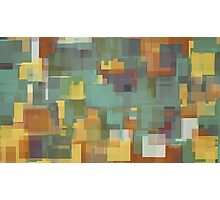 green brown and yellow square pattern  Photographic Print