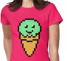Pixel Green Ice Cream Cone Womens Fitted T-Shirt
