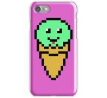 Pixel Green Ice Cream Cone iPhone Case/Skin