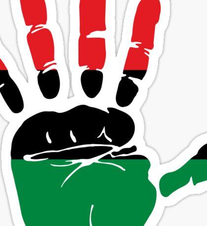 International African American Unia Flag Sticker