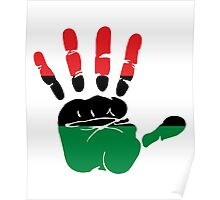 International African American Unia Flag Poster