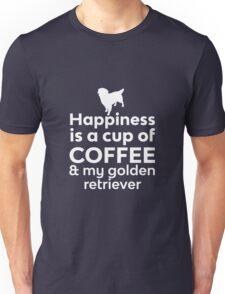 Happiness Is Coffee & Golden Retriever Unisex T-Shirt