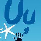 Uu + sign language symbol by Robyn Williams