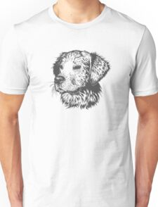 Puppy Pencil Drawing Unisex T-Shirt