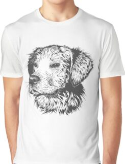 Puppy Pencil Drawing Graphic T-Shirt