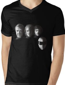 FAB GEAR - BLACK Mens V-Neck T-Shirt