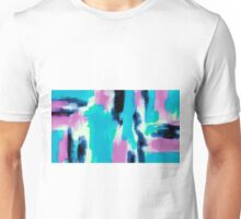 pink black and blue painting texture abstract Unisex T-Shirt