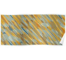 yellow blue and brown abstract  Poster