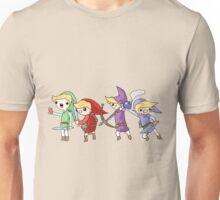 Four swords, four Links Unisex T-Shirt