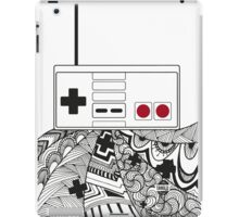 NesController Zenart - Black and White iPad Case/Skin