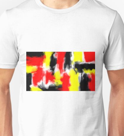 red yellow and black painting texture  Unisex T-Shirt