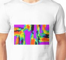 pink purple green orange black yellow blue painting Unisex T-Shirt