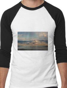 Mountains at Mono Lake Men's Baseball ¾ T-Shirt