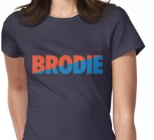 Brodie (Light Blue/Orange) Womens Fitted T-Shirt