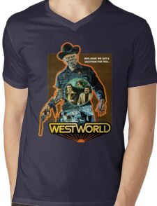 West World Premium Merchandise Mens V-Neck T-Shirt
