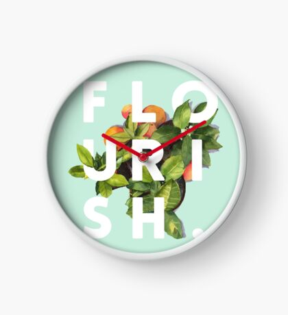 Flourish #redbubble #home #designer #tech #lifestyle #fashion #style Clock