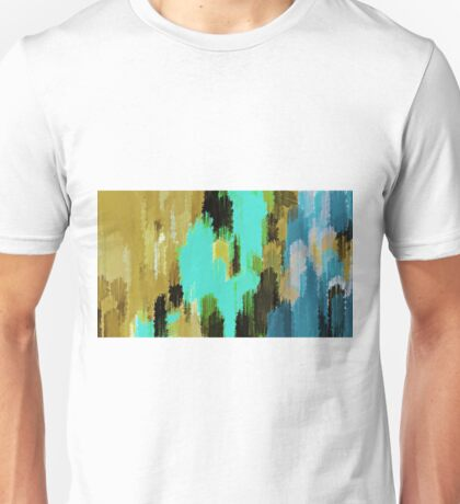 blue black and green painting texture  Unisex T-Shirt