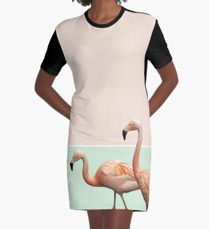 Flamingo Pastel Art #redbubble #buyart #lifestyle 3fashion Graphic T-Shirt Dress
