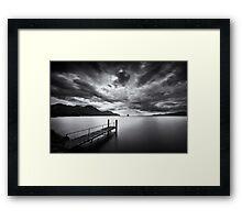 The dark side of the lake Framed Print