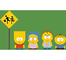 The Simpsons / South Park Photographic Print