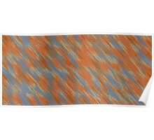 blue orange and brown painting abstract Poster